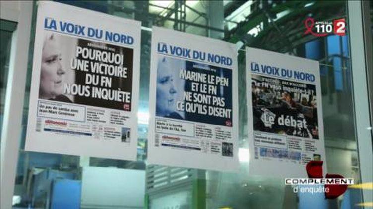 """Hénin-Beaumont : """"La Voix du Nord"""" fait front (FRANCE 2 / FRANCETV INFO)"""