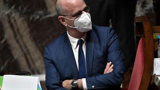 Le ministre de l'Education, Jean-Michel Blanquer, à l'assemblée nationale, à Paris, le 19 janvier 2021. (STEPHANE DE SAKUTIN / AFP)