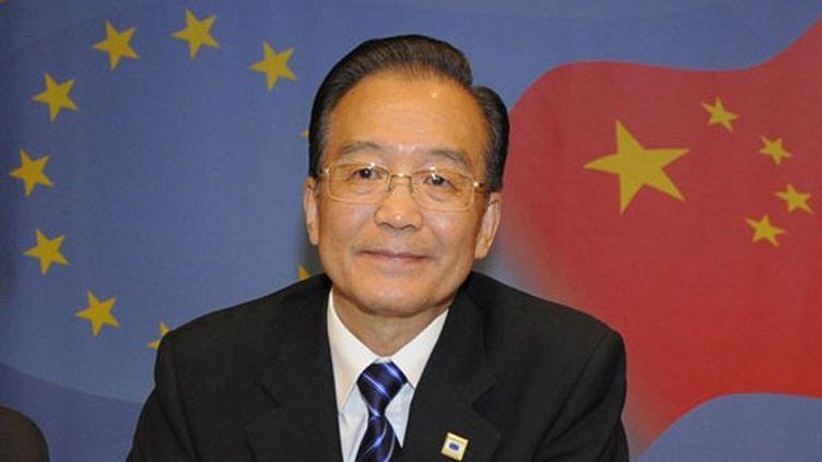 Le Premier ministre chinois Wen Jiabao à Bruxelles (6 octobre 2010) (AFP / John Thys)
