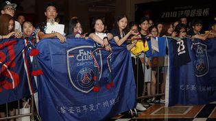 L'arrivée de l'équipe à Shenzhen, en Chine. (PSG)