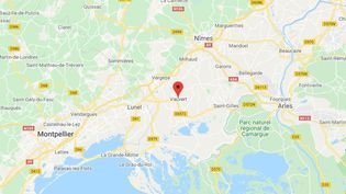 La commune de Vauvert dans le Gard. (GOOGLE MAPS / FRANCETV INFO)