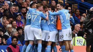 Manchester City s'est imposé sur la pelouse de Chelsea (0-1) samedi 25 septembre. (BEN STANSALL / AFP)