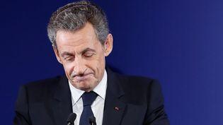 Nicolas Sarkozy fait un discours à Paris, le 20 novembre 2016. (IAN LANGSDON / POOL / AFP)