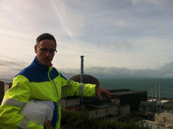Bertrand Michoud, chef de l'aménagement de Flamanville 3. (CELIA QUILLERET / RADIO FRANCE)