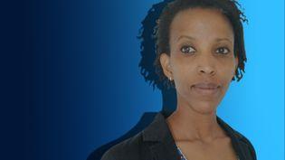 Jeanne Uwimbabazi, rescapée du génocide des Tutsis et présidente de l'association Diaspora Rwandaise de Toulouse. (STÉPHANIE BERLU / FRANCE-INFO)