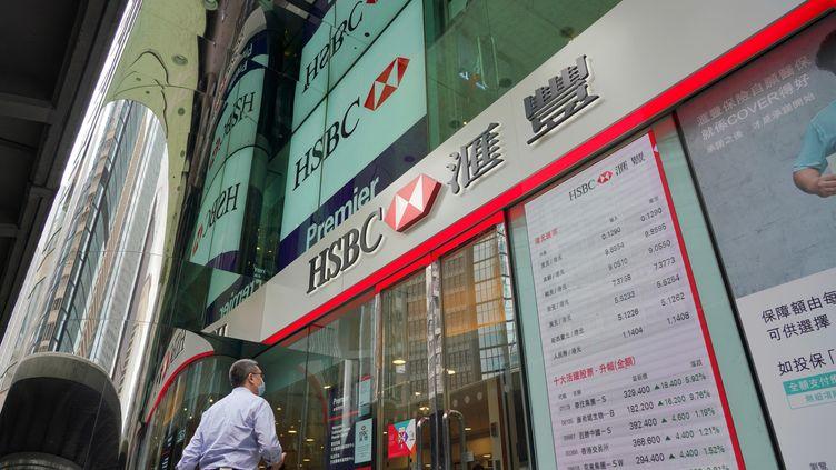 HSBCest la plus grosse banque implantée àHong Kongavec 30000 employés. (MAXPPP)