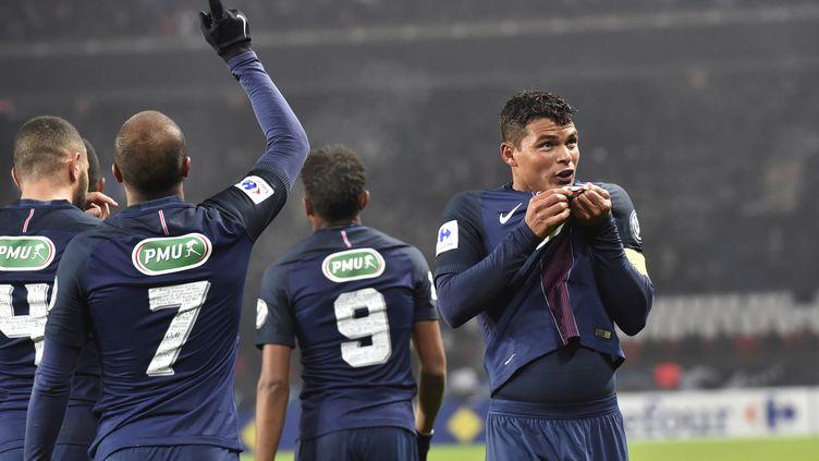 Comme face à Bastia en Coupe de France, Thiago Silva y est allé de son but (ALAIN JOCARD / AFP)