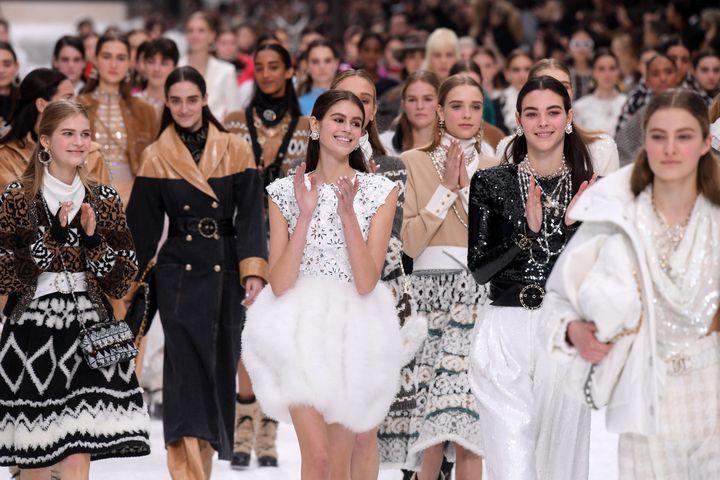 Chanel ah 2019-20 à Paris, le 5 mars 2019.  (David Fisher/REX/Shutterstock/SIPA)