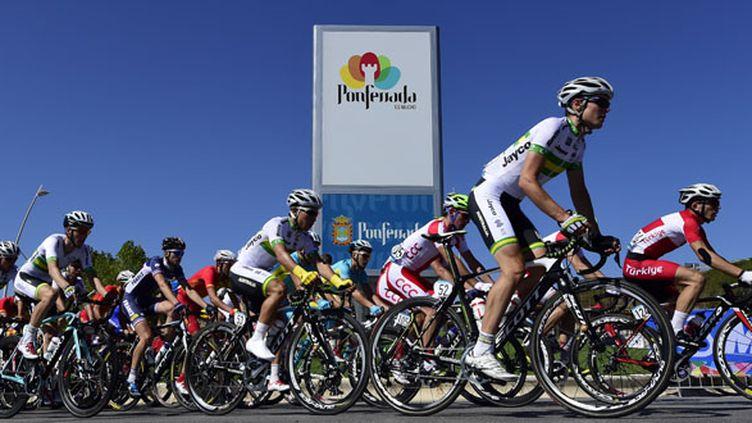 Les Championnats du monde cyclisme 2014 se déroulent à Ponferrada en Espagne (JAVIER SORIANO / AFP)