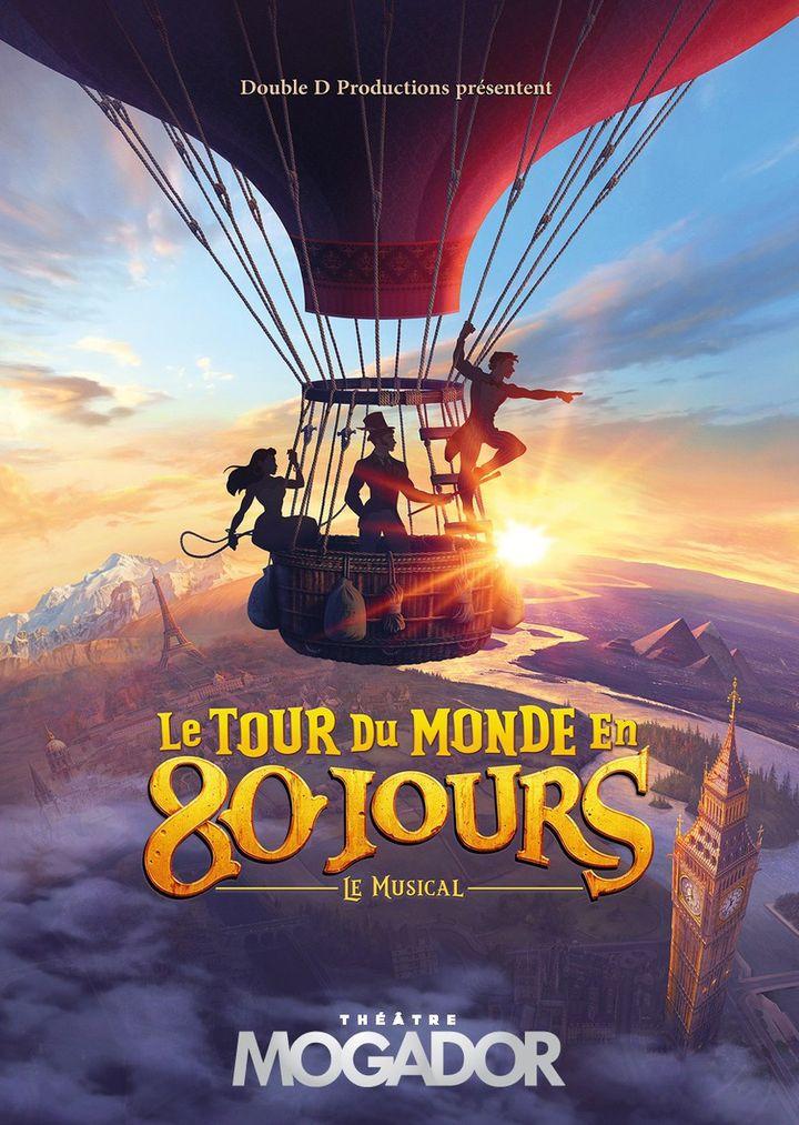"""Affiche du 'Tour du monde en 80 jours"""" (Théâtre Mogador)"""