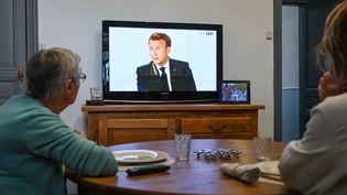 L'interview d'Emmanuel Macron le 14 juillet n'a pas convancu les Français (sondage Odoxa pour franceinfo) (DENIS CHARLET / AFP)
