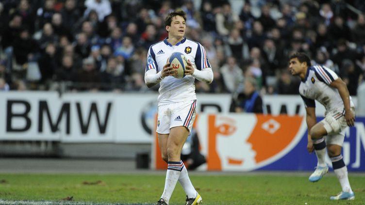 François Trinh-Duc lors de son dernier match en bleu, le 9 février 2014 contre l'Italie au Stade de France. (JEAN MARIE HERVIO / DPPI MEDIA)