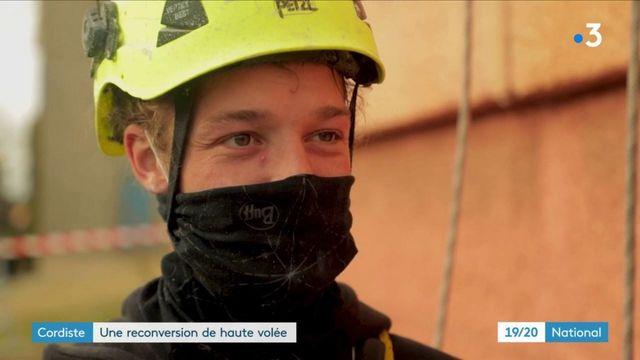 Reconversion : rencontre avec Everest Leblanc, un jeune boulanger devenu cordiste