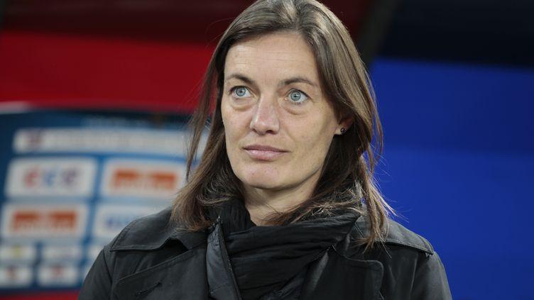 Corinne Diacre, nouvelle coach des Bleues.  (CHARLY TRIBALLEAU / AFP)