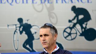 Laurent Jalabert, le 18 septembre 2012 à Valkenburg (Pays-Bas). (FRANCK FIFE / AFP)