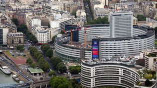 La Maison de la radio à Paris, siège de Radio France, en juillet 2013. (THOMAS SAMSON / AFP)