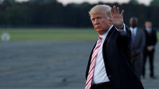 Le président américain, Donald Trump, le 22 septembre 2017 à Huntsville, en Alabama (Etats-Unis). (AARON BERNSTEIN / REUTERS)