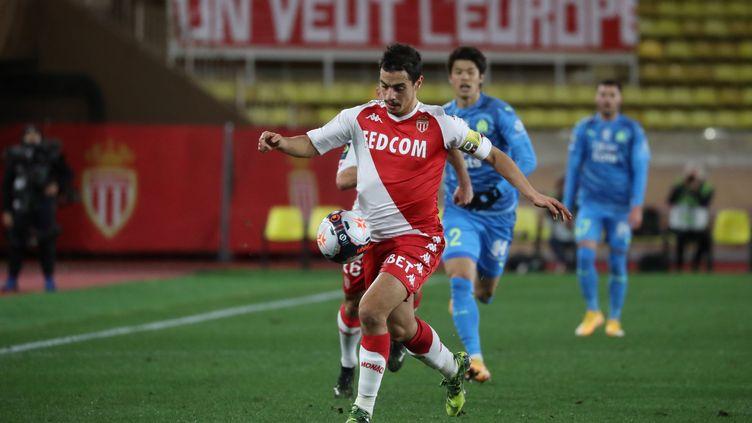 Wissam Ben Yedder (Monaco) contre l'Olympique de Marseille en Ligue 1 le 23 janvier 2021 (VALERY HACHE / AFP)
