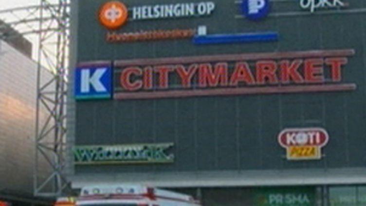Le centre commercial d'Espoo, en banlieue de Helsinki, où la fusillade s'est produite (31/12/2009) (France 3)
