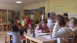 Des élèves à l'école. ( CAPTURE ECRAN FRANCE 2)
