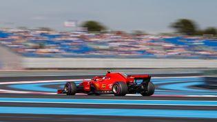 La Ferrari de Kimi Raikkonen, le 22 juin 2018, sur le circuit du Castellet (Var) pour le Grand Prix de Formule 1. (FREDERIC LE FLOC H / DPPI MEDIA / AFP)