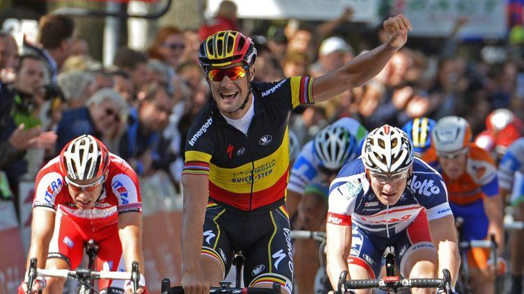 Le Belge Tom Boonen (Quick Step)  (DIRK WAEM / BELGA MAG)