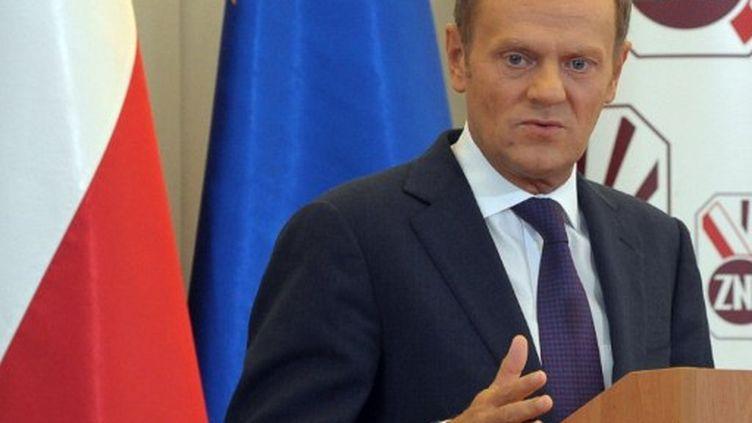 Donald Tusk, Premier ministre polonais et leader des libéraux au pouvoir. (JANEK SKARZYNSKI / AFP)
