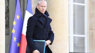 Le ministre de la Culture, Franck Riester, à la sortie de l'Elysée, le 24 janvier 2020.  (ALAIN JOCARD / AFP)