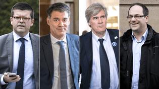 Les candidats au poste de premier secrétaire du Parti socialiste : Luc Carvounas, Olivier Faure, Stéphane Le Foll et Emmanuel Maurel. (MAXPPP)