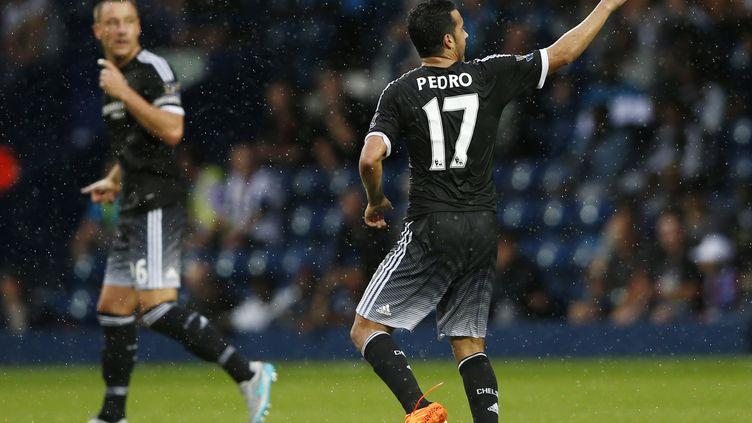 Pedro, buteur et passeur pour son premier match sous les couleurs des Blues (JUSTIN TALLIS / AFP)