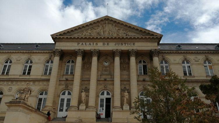 Le tribunal judiciaire d'Amiens (Somme), le 25 août 2020. (FRANÇOIS SAUVESTRE / RADIO FRANCE)