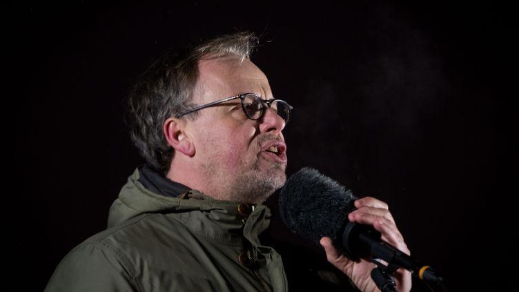 Christophe Deloire, à Bratislava, en Slovaquie, le 2 mars 2018. (VLADIMIR SIMICEK / AFP)