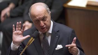 Le ministre des Affaires étrangères, Laurent Fabius, à l'Assemblée nationale, le 9 octobre 2013. (FRED DUFOUR / AFP)