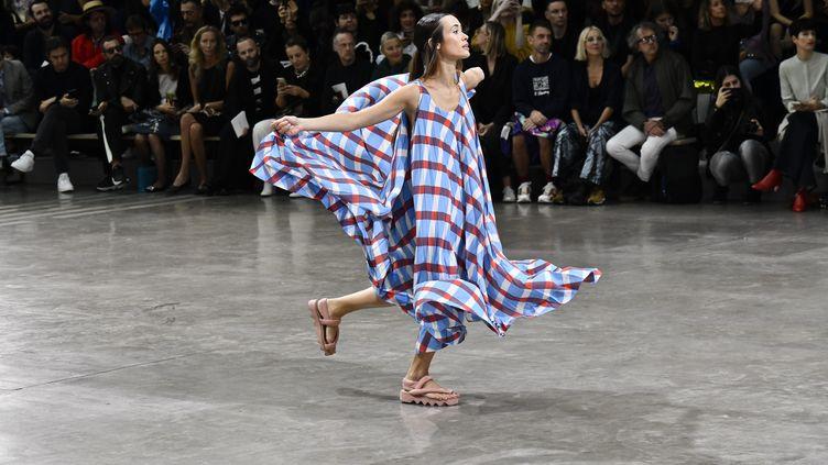 Défilé Issey Miyake pap féminin printemps-été 2020, le 27 septembre 2019 à la Paris Fashion Week (VICTOR VIRGILE / GAMMA-RAPHO)