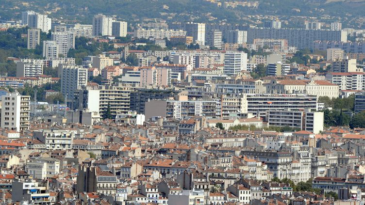 Quartiers nord de Marseille. (GERARD JULIEN / AFP)