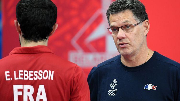 L'entraîneur de l'équipe de France Patrick Chila. (PHILIPPE MILLEREAU / KMSP)
