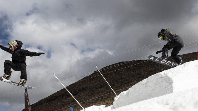 La station Afriski a ouvert en 2002 dans les montagnes de Maluti, au Lesotho. (MARCO LONGARI / AFP)