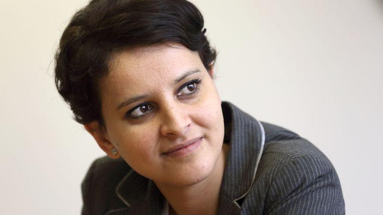 Najat Vallaud-Belkacem, porte-parole du gouvernement, le 8 mars 2013 à Paris. (PHILIPPE WOJAZER / AFP)