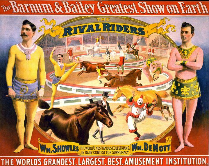 Autre affiche d'époque du Cirque Barnum.  (Bianchetti Stefano / Leemage)