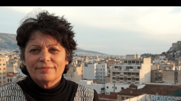L'eurodéputée Michèle Rivasi à Athènes, en février (parlement européen)