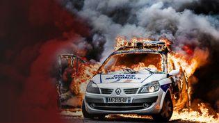 Violences : quand les forces de l'ordre sont victimes. (SIMON GUILLEMIN / AFP / STEPHANIE BERLU / RADIOFRANCE)