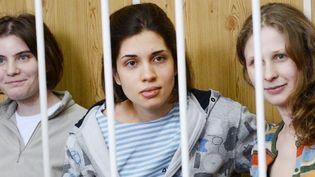 Les membres de Pussy Riot lors d'une audience au tribunal de Moscou (20/7/2012)  (AFP / Natalia Kolesnikova)