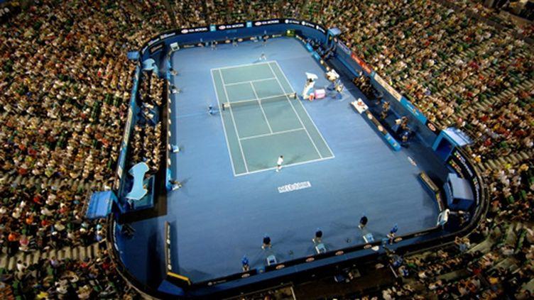 Une vue aérienne de la Rod Laver Arena