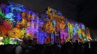 La fête des lumières à Lyon (Rhône), le 5 décembre 2008. (FRED DUFOUR / AFP)