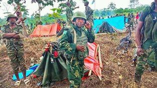 Une position de l'armée congolaise (FARDC) à Mapobu dans le triangle de la mort (est du pays), le 17 novembre 2019 (Photo/Nicaise Kibel'bel)