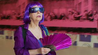 Ultra Violet en 2003 à Monaco au vernissage d'une exposition Warhol.  (Marc Mehran / Nice Matin / MaxPPP)