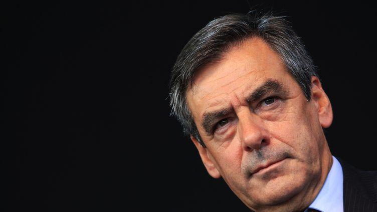 François Fillon, le 13 septembre 2013 lors d'un meeting de l'UMP, à Nice (Alpes-Maritimes), le 6 octobre 2013. (JEAN CHRISTOPHE MAGNENET / AFP)