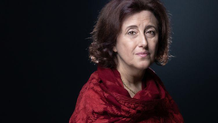 La journaliste Francesca Gee le 22 septembre 2021 (JOEL SAGET / AFP)