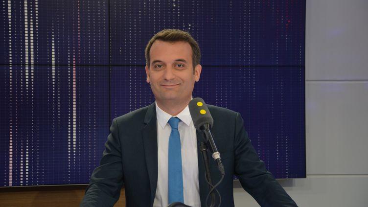 Florian Philippot,vice-président du FN .  (RADIO FRANCE / JEAN-CHRISTOPHE BOURDILLAT)