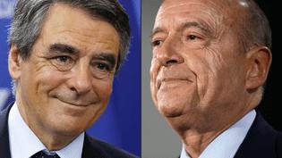 François Fillon et Alain Juppé, les deux qualifiés pour le second tour de la primaire à droite, qui se tiendra le 27 novembre 2016 (MARTIN BUREAU / AFP)